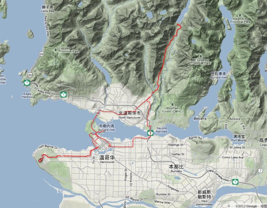 Seymour Lake 路线